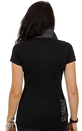 ea618e10008d Damen Polo Shirt Gr. M Factory Lady Schwarz - inkl. Key Holder (5-068)   Amazon.de  Sport   Freizeit