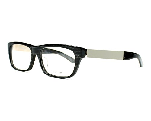 YSL Saint Laurent 4022/J 8LV rectangle black marble/silver full rim - Glasses Sun Ysl