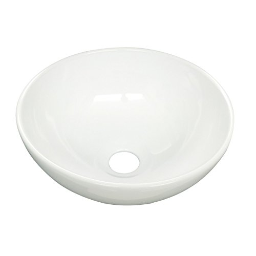 12 Inch Vessel Sink - Small Mini Round Above Counter Vessel Bathroom Sink White Porcelain With Grade A Vitreous China Finish 11.25
