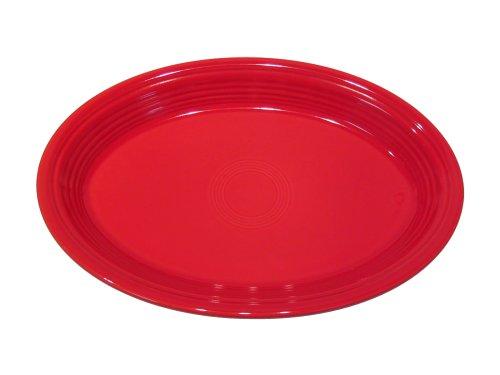 Fiesta 11-5/8-Inch Oval Platter, Scarlet (Serving Oval Platter Fiesta)