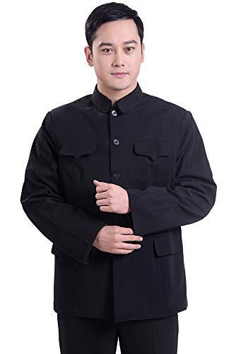 Tunics Outdoor Mens Style Fashion Jacket Pocket Chinese Simple 1 Outwear Jacket ZEVONDA Coat Multi Jacket xq0TESw4T
