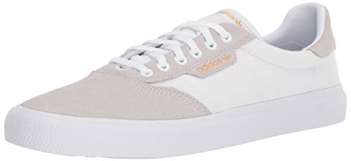 Classic Crystal - adidas Skateboarding Men's 3MC Off-White/Crystal White/Gold Metallic 11.5 D US