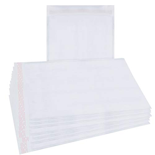 25 Pack White Kraft Padded envelopes 9.5 x 13 Bubble Mailers 9.5x13 Peel and Seal. Cushion envelopes. Shipping, mailing, Packaging. Heavy Duty Recyclable Kraft mailers in Bulk. Wholesale Price.