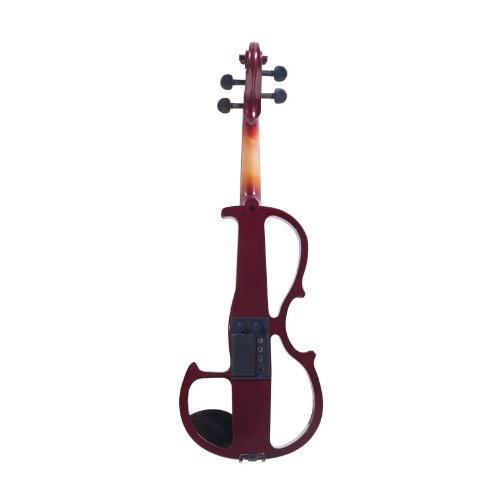 Cecilio L1/2CEVN-L2NA Left-Handed Solid Wood Mahogany Metallic Electric Violin with Ebony Fittings in Style 2