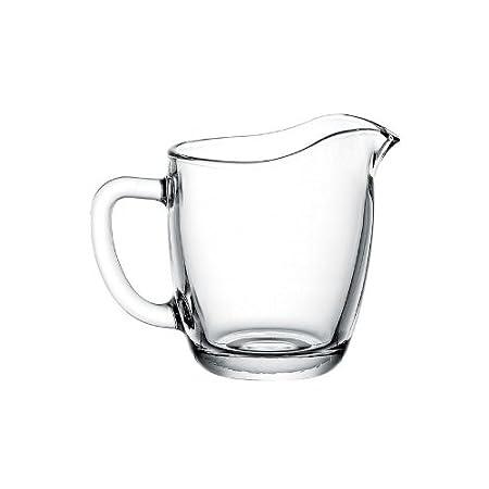 Dajar Leche Jarra 200 ml Basic, Vidrio, Transparente, 10 x 8 x 9 ...