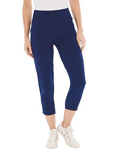Chico's Women's Zenergy Neema Knit-Waist Crops Size 20/22 XXL (4) Blue ()