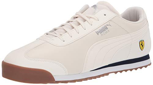 (PUMA Men's Ferrari Roma Sneaker Whisper White, 11.5 M US)