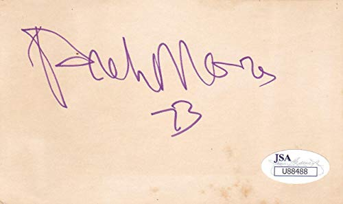 ARCHIE MOORE d.1998 Signed 3X5 Index Card Boxer/Light Heavyweight U88488 - JSA Certified - MLB Cut Signatures (Best Light Heavyweight Boxers)