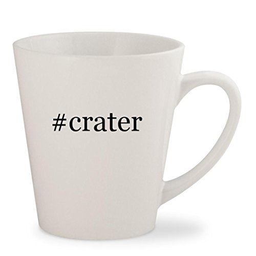 #crater - White Hashtag 12oz Ceramic Latte Mug Cup (Crater Lake Vodka)