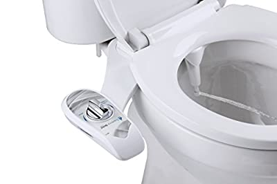 Superior Bidet Base - Single Nozzle for Rear Cleaning - Fully Adjustable Nozzle Adapts To Any Body Type For Easy Cleaning - White Bidet Attachment