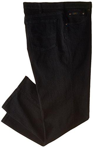 (Lee Men's Big-Tall Premium Select Custom Fit Relaxed Straight Leg Jean, Black, 46W x 30L)
