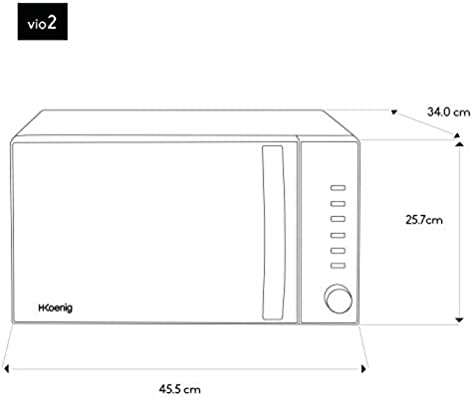 Microondas sin Grill, 20 Litros, 700 W, Temporizador hasta 1 hora ...