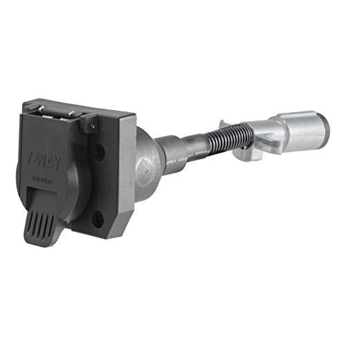 CURT 57667 6 Round Vehicle-Side to 7-Way RV Blade Trailer Wiring Adapter