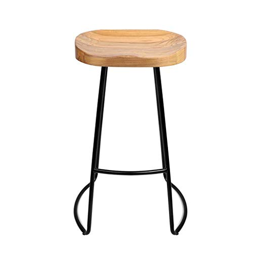 Tremendous Amazon Com Yan Junau Vintage Wooden Seat Metal Leg Chair Gmtry Best Dining Table And Chair Ideas Images Gmtryco
