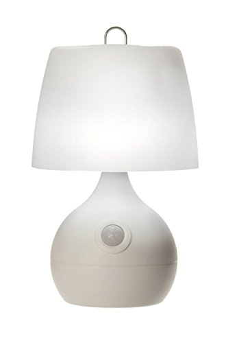 Light It! By Fulcrum, LED Wireless Motion Sensor Table Lamp, Wireless, Battery Operated, White