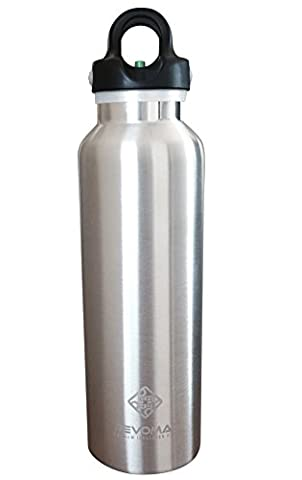 RevoMax Twist Free Insulated Stainless Steel Water Bottle with Standard Mouth, 20 oz, Galaxy Silver - 20101 Cap