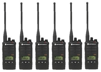 Motorola RDU4160D RDX Business 2-Way UHF Frequency Professional Two Way Radio (6-Pack) by Motorola