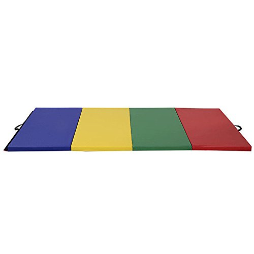 HITSAN 94x47x1.9inch Four Folding Gymnastic Mat Fitness Exercise Floor Pad Sports Protection One Piece by HITSAN (Image #2)