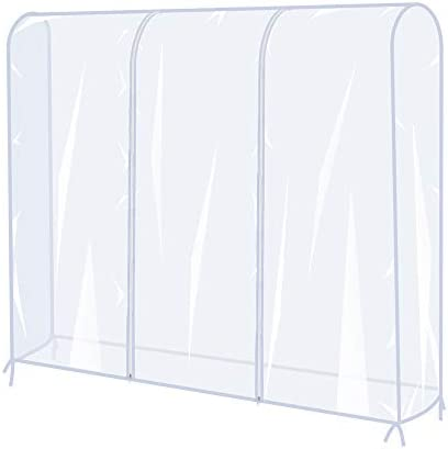 Garment Rack Cover5 Ft Clear Clothes Rail Cover Coat Hanger Protector Waterproof and Dustproof Clothing Storage