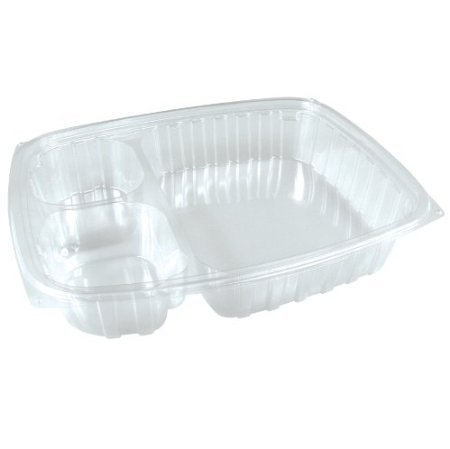 Dart C30DE3R 30 oz Clear 3 Comp OPS Plastic Container (Case of 252) 30 Ounce Plastic Container
