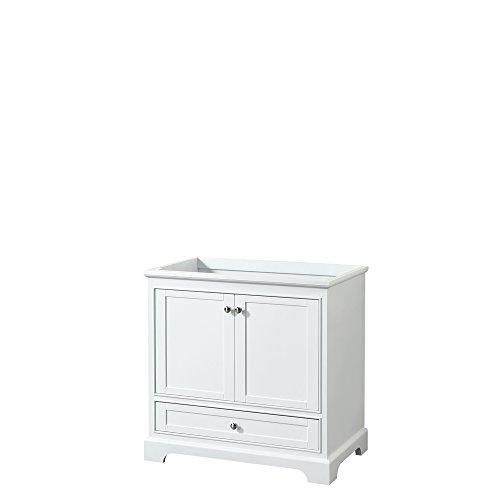 CS202036SWHCXSXXMXX Deborah Single Vanity Cabinet, No Countertop, No Sink, and No Mirror, 36