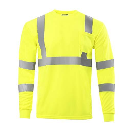 6d4b04210ac66 JORESTECH Safety T Shirt Reflective High Visibility Long Sleeve ...