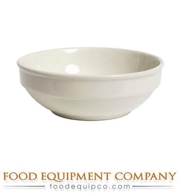 "Tuxton TRE-055 Vitrified China Reno/Nevada Accessories Bowl, 13 oz, 5-1/2"", Eggshell (Pack of 36)"