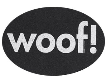 ORE Pet Recycled Rubber Oval Woof! Placemat - (Recycled Rubber Pet Placemat)