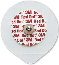 3M-9642 Electrode EKG/ECG Red Dot Clear Tape Adult 5x4.6cm 50 Per Bag by 3M Part No. 9642 Clear Tape Ecg Electrode
