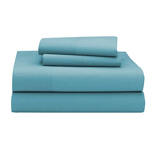 Giselle ! Soft & Comfortable ! 25 Inch Extra Deep Pocket Full XL Camper Sheet Set (53x79) for RV- Trucks, Campers and Motorhomes Solid Baby Blue - 1800 Series Brushed Microfiber Sheets (53 Series Baby Mattress)