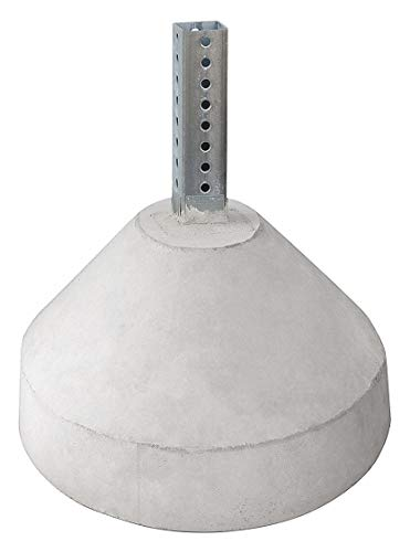Tapco 105863 Concrete Base with 6' Height U-Channel Post, White, For 18
