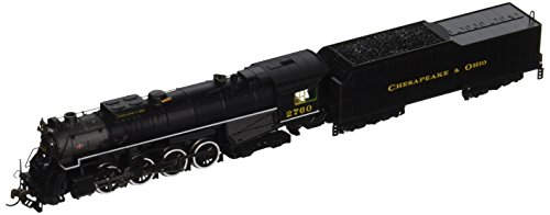 Steam 4 4 8 Locomotives - Bachmann Industries C&O Kanawha #2760 N Scale 2-8-4 Berkshire Steam Locomotive & Tender