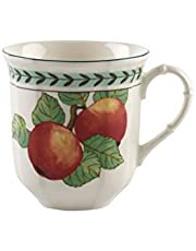 "Villeroy & Boch French Garden Modern Fruits Jumbo kubek ""jabłko"", 480 ml, porcelana premium, biała/kolorowa"