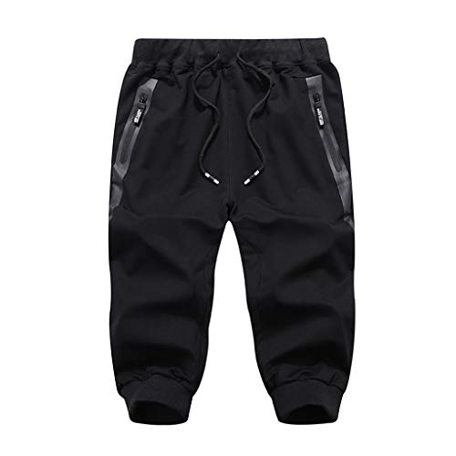 Lefthigh Men's Beach Sports Cropped Trousers, Summer Fashion Casual Comfort Calf-Length Pants - Hockey Power Bag Dry Equipment