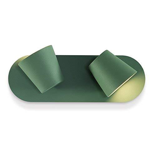 BXJ 北欧の壁ライト寝室のベッドサイドランプ読書灯モダンミニマリストクリエイティブウォールランプ (Color : 緑)  緑 B07R4DP9PP