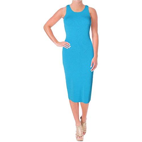 Lauren Ralph Lauren Womens Ellie Mesh Inset Pullover Tank Dress Blue (Inset Tank Dress)