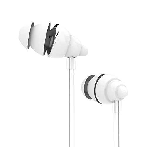 UiiSii F108 High Performance Headphones In-Ear Earphones with Microphone and Super Bass, and Remote Control for Iphone and Android Devices,Mini Lightweight Stereo Headsets (White)