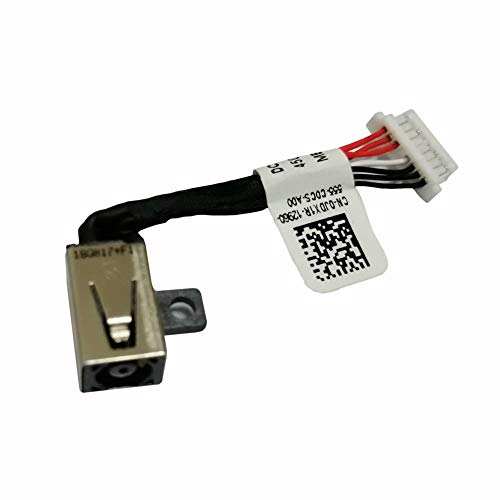 DC Power Jack Cable Replacement for Dell Inspiron 13 (5368 5378 7368 7378) 15 (5568 7569 7579 7570) Compatible Part Number PF8JG 0PF8JG 450.07R03.000 - Notebook Power Replacement Dc Jack