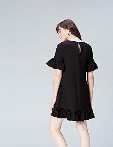 FIND Volants Vichy Black Noir Femme Robe PnwzP1qrxg