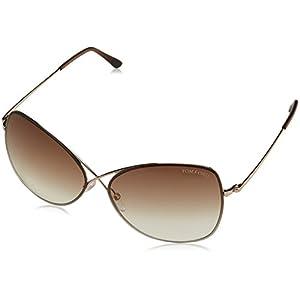 Tom Ford Colette Sunglasses-28F Shiny Rose Gold (Gradient Brown Lens)-63mm
