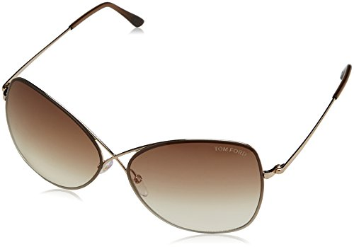 Tom Ford Colette Sunglasses-28F Shiny Rose Gold (Gradient Brown Lens)-63mm (Tom Ford Sunglass Lens)