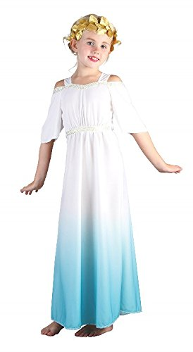 Bristol Novelty White/Blue Roman Goddess Costume Girls Medium 7-9 Years (Roman Girl Costume)