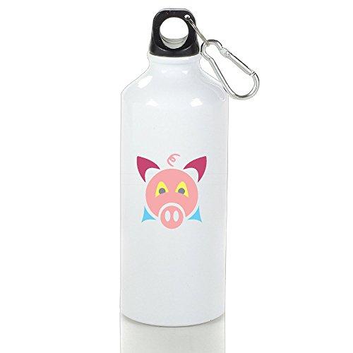 Easten Zadiac Animals Pig Aluminum Sports Water Bottle For Camping