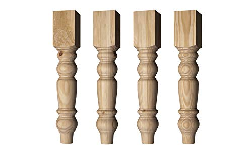Husky Farm Dining Table Leg in Unfinished Pine (Set of 4)
