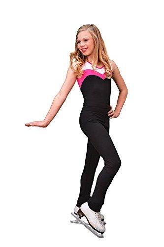 Chloe Women Pants (Chloe Noel Figure Skating Skinny Skate Pants P11 Black Adult Small)
