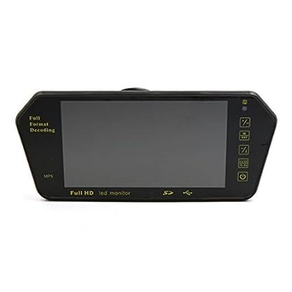 eDealMax Negro 7 TFT LED de la pantalla táctil de coches retrovisor Monitor de la cámara