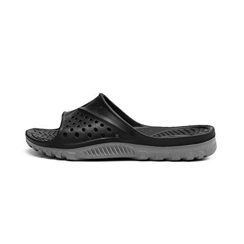 (Paangkei Unisex Slide Sandal, Ladies/Gentlemen/Big Kids Sport Sandals/Slides/Flip Flops/Slippers/Shoes for Pool,Beach,Dorm & Gym,Outdoor,Indoor,Bedroom,Home/House (7 US Men's / 9 US Women's, Black))