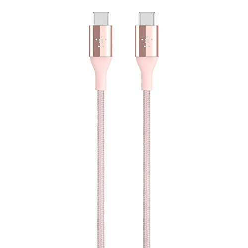 Belkin MIXIT DuraTek Kevlar USB-C (USB Type C ) to USB-C Cable, 4 Feet (Rose -
