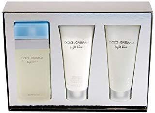 LÍGHT BLÜE BY Dolcé & Gabbaná 3PC Gift Set Perfume for Women [3.3oz edt spray+3.3oz B/C+3.3oz S/G] NIB