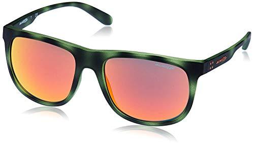 Arnette CROOKED GRIND AN4235-24656Q Sunglasses Matte Green/Havana w/Red Lens 56mm ()